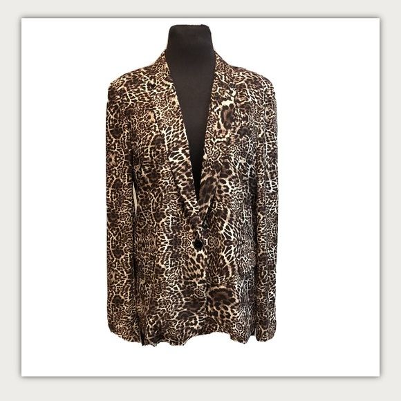 The Kooples Cheetah Animal Print Blazer Jacket L
